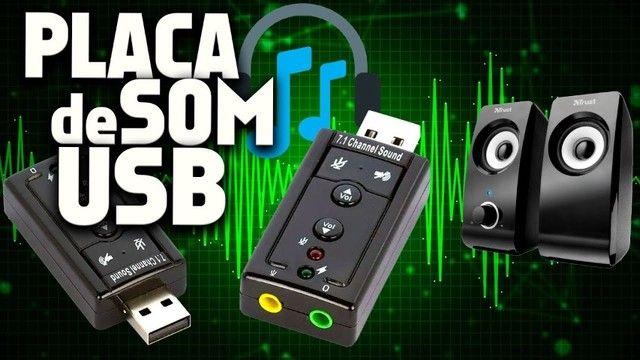 Placa Adaptador De Som Usb 7.1 Canais 3d Adaptador Audio Notebook PC