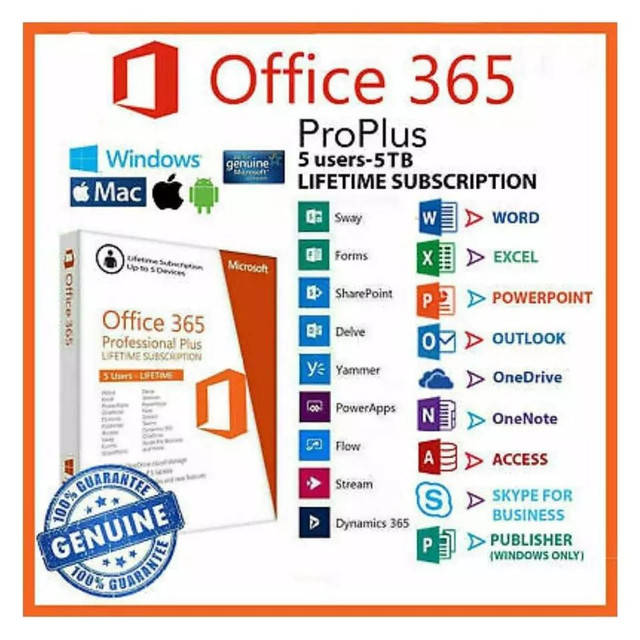 Pacote office 365 2019 original