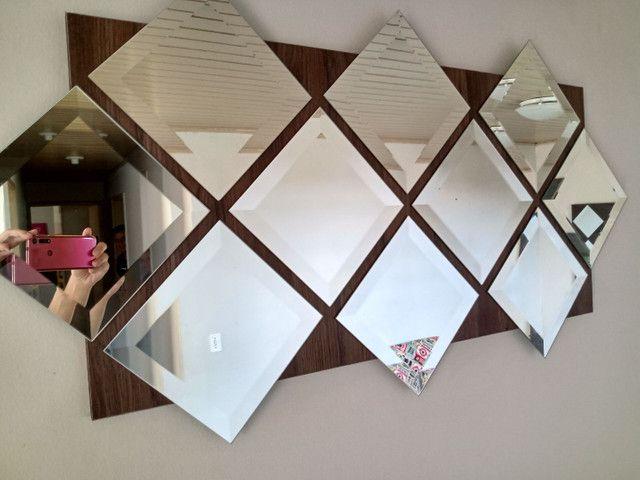 Painel de espelhos com 1,20 x 60 pronto para pendurar na parede - Foto 4
