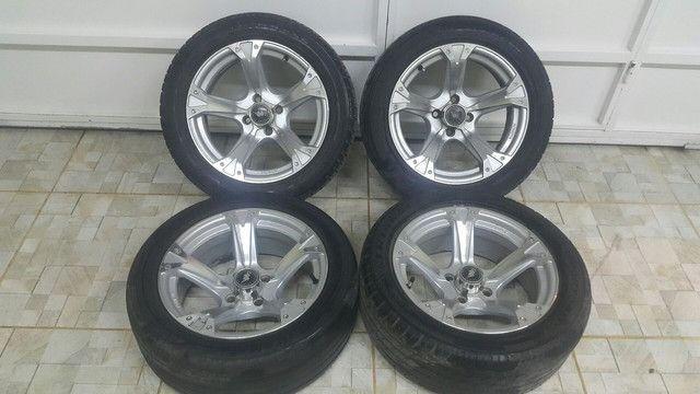 Aro 15 com pneu 195/50 R$: 2.000 tel: 9.9964.7494 - Foto 2