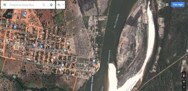 Rancho no Rio Araguaia - De frente para com a Cidade Cocalinho MT