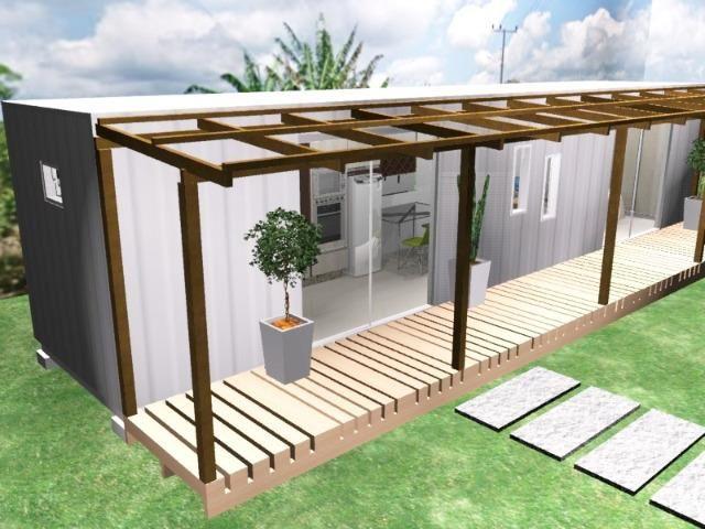 Casa container 30m2 com um quarto revestida em madeira em Chapeco - Foto 4