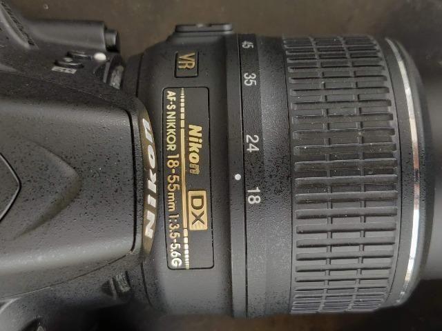 Câmera Nikon D3200 + lentes 18-55mm e 55-300mm - Foto 4