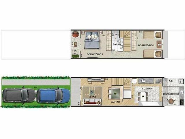 Casas prontas em Jandira 2 dormitórios com quintal Minha Casa Minha Vida - Foto 8