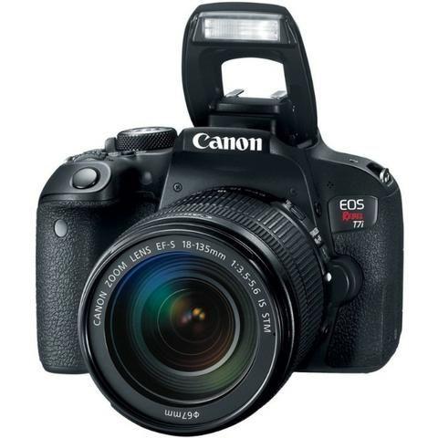 Kit Câmera Canon EOS-Rebel T7I + EF-S 18-135mm