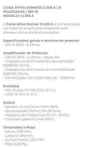 Caixa de som  AMPLIFICADA c USB - 100w Rms - Foto 5