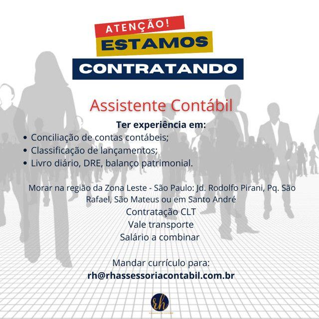 Vaga de emprego - Assistente Contábil