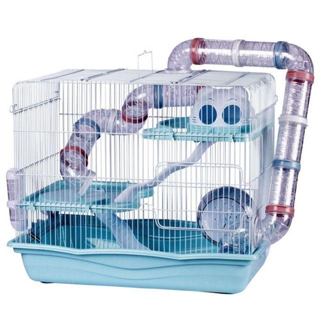 Gaiola Hamster Safari Super Gigante - Azul (seminovo / na caixa)