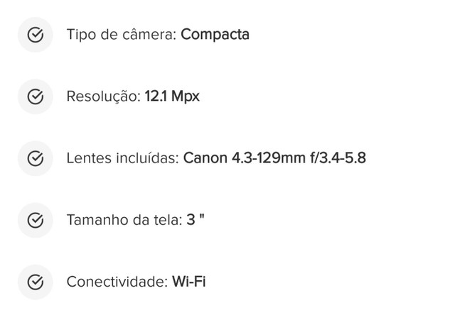 Câmera Canon OBS:aceito troca por smartphone ou PS4 - Foto 3