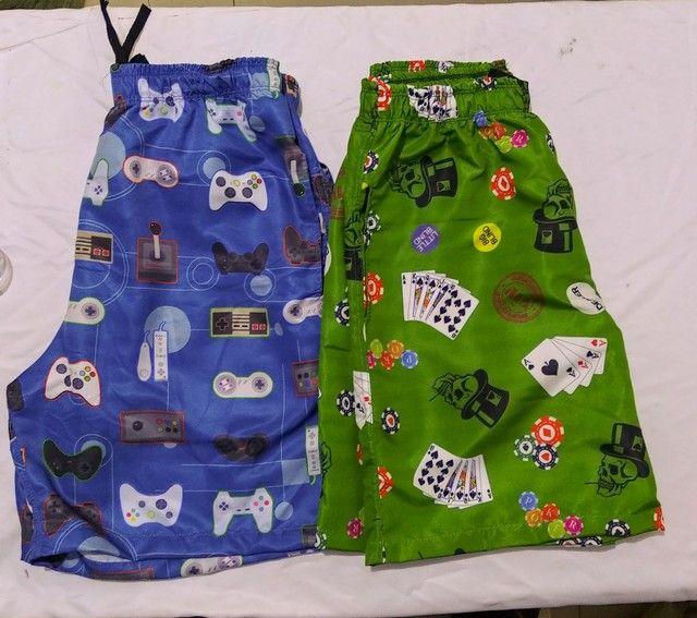 Shorts Tactel Sublimada Masculinos - Foto 4
