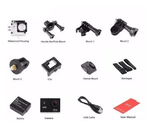 Câmera Prova Dágua Sport 1080p Full Hd + Frete GRÁTIS - BH - Foto 4