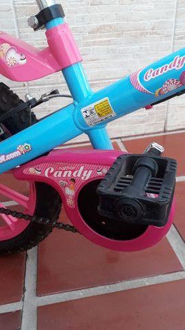 Bicicleta Infantil Aro 16 - Semi Nova - Foto 4