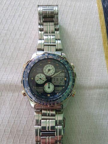 Relógio Citizen Navihawk E6758 Usado mais Relógio Aviador  - Foto 2