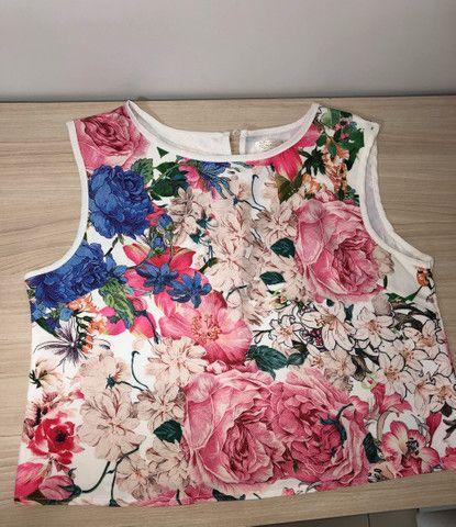 Conjunto short e saia floral tam G - Foto 2