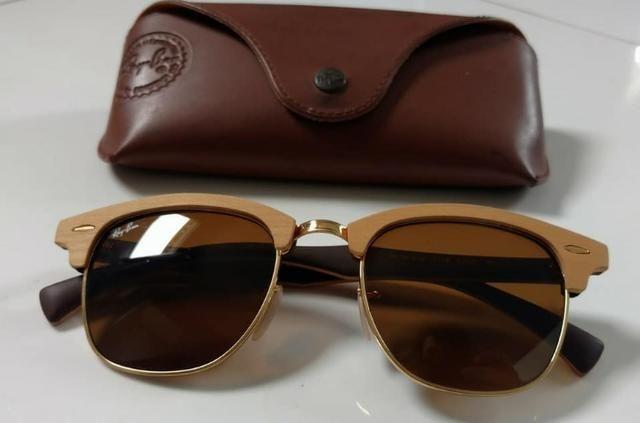 76896f8da8521 ... coupon code for Óculos ray ban clubmaster wood rb3016m original 916bd  2c8b6