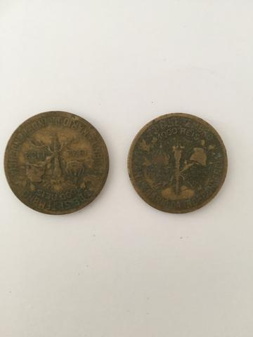 Duas moedas de 1000 réis