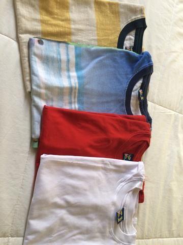 4 Camiseta regata infantil masculina da PUC