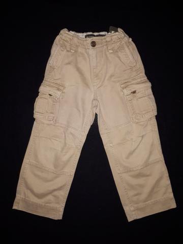 Calça cargo importada GAP com regulagem de cintura_