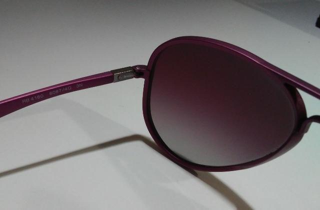 Óculos De Sol Importado Ray-Ban Aviator Liteforce RB4180 Roxo - Foto 2