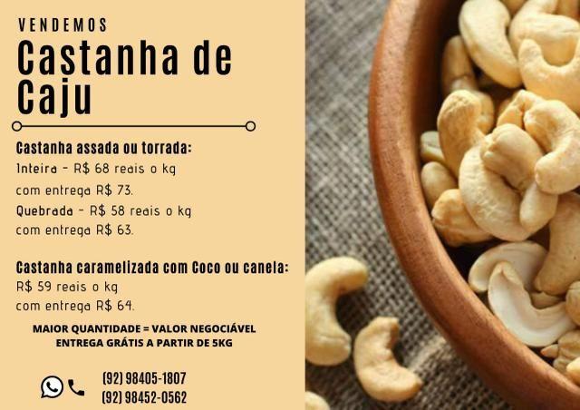 Castanha de caju melhor preço de Manaus