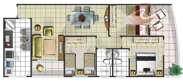 Apartamento com 3 dormitórios à venda, 77 m² por r$ 280.000 - jardim satélite - são josé d - Foto 13