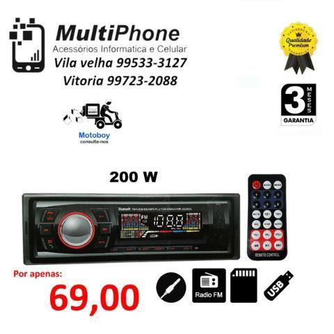 Som Automotivo Radio Fm Usb Pen Drive Mp3 Cartão Sd Aux knup kp c 12