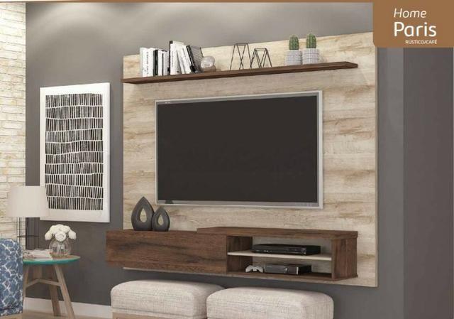 Painel Home suspenso para TV 55'' - Paris *NOVO* ShopMix Móveis Modernidade