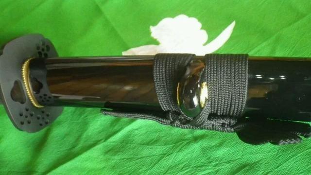 Espada Katana Ninjato Shinobigatana Oniyuri Forjada Aço 1070 - Foto 3