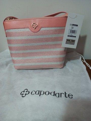 Mini Bolsa  Capodarte branca e rosê
