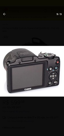 Câmera Canon OBS:aceito troca por smartphone ou PS4 - Foto 6