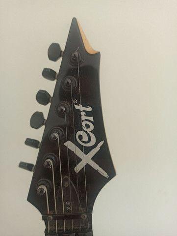 GUITARRA CORT X6 EM EXCELENTE ESTADO!! ACEITO CARTÃO!! - Foto 4