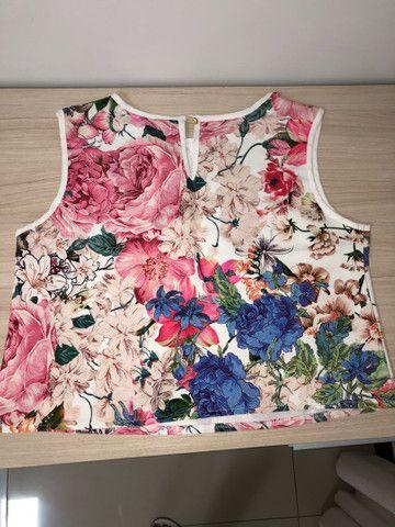 Conjunto short e saia floral tam G - Foto 3