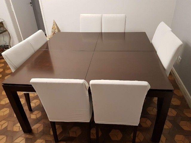 Linda Mesa Quadrada 1,60 X 1,60 + 8 cadeiras - Foto 4