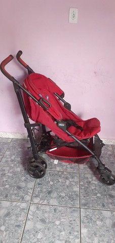 Carrinho de bebê Chicco LITE WAY cor:vermelho bem conservado