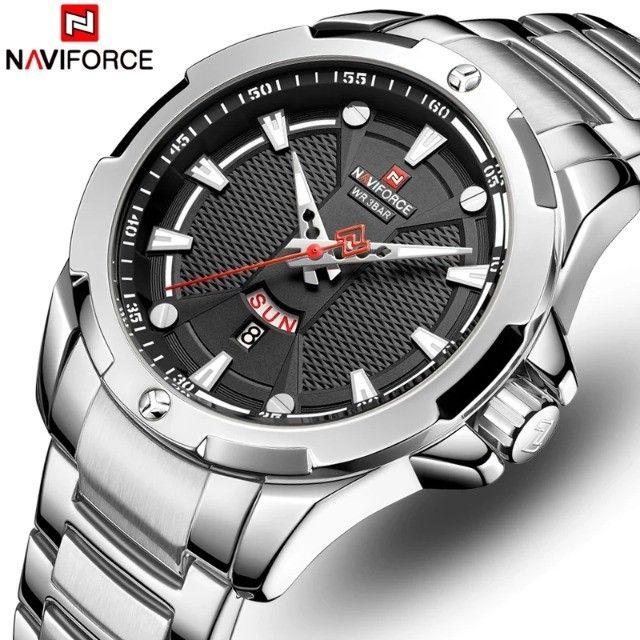 relógio de pulso original naviforce resistente a agua data funcional  - Foto 2