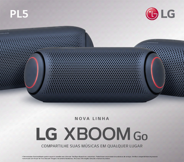 Caixa de Som LG XBoom GO PL5 Meridian 20W Lacrado Garantia - Em 10X com acréscimo de 10%