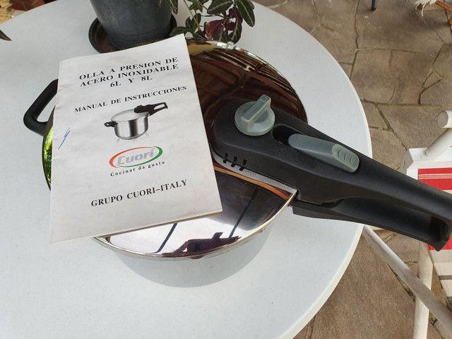 Panela de pressão inox italiana Cuore 6 litros