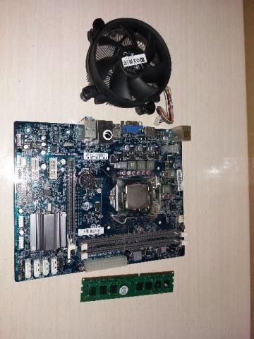 Kit Placa 1155 ECS H61 + Intel G620 + 4Gb Ram ddr3