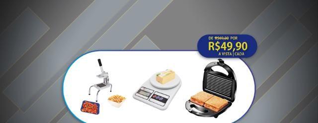 Cortador de legumes, balança ou sanduicheira Grill por R49,90