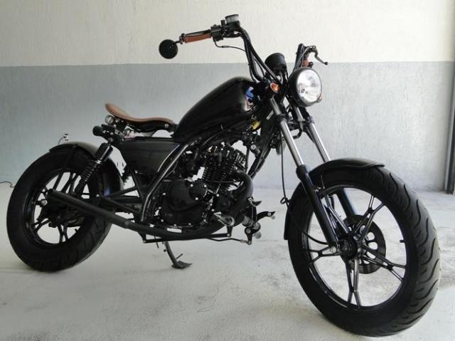 suzuki intruder 125 customizada 2010 2010 motos boa. Black Bedroom Furniture Sets. Home Design Ideas