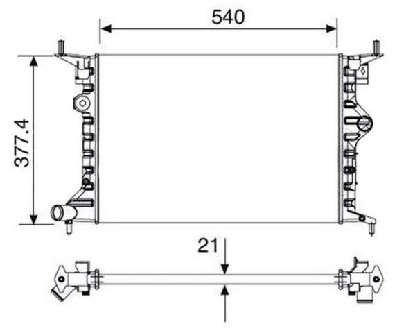Radiador de água GM Vectra 97/05 Sem Ar Condicionado Aceito Cartão - Foto 2