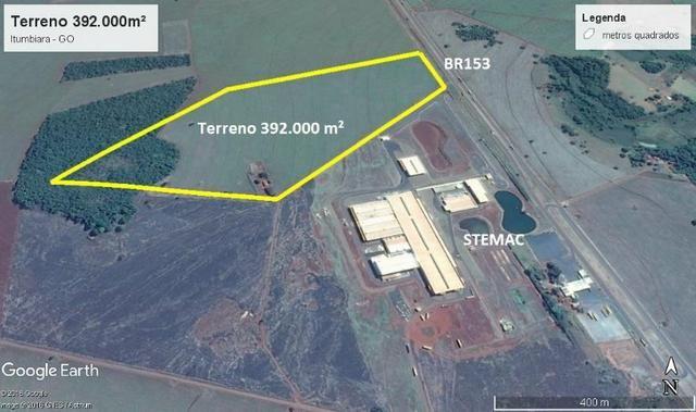 Terreno 392.000 m² Itumbiara-GO lado da Stemac Distrito Industrial II - Foto 2