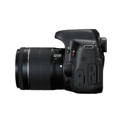 Camera Canon Eos T6I 18-55MM F/3.5-5.6 Is STM Preto