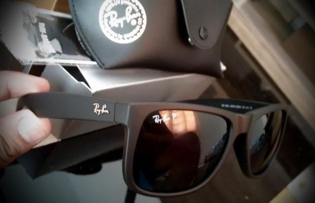 Oculos de Sol Ray Ban Justin Polarizado - Bijouterias, relógios e ... ddf4ad15df