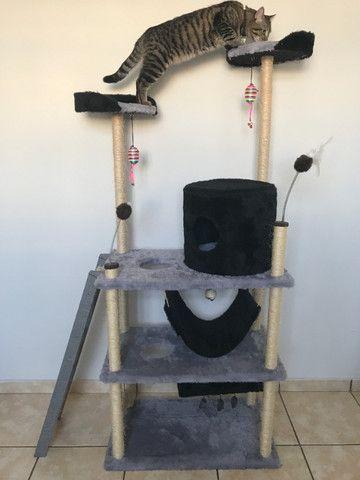 Brinquedo Arranhador Castelo Torre para Gatos - Foto 2