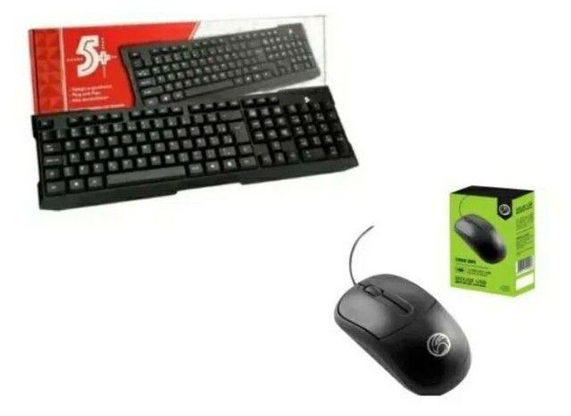 Kit Teclado Usb Office + Mouse Usb Office 1000 Dpi 5+