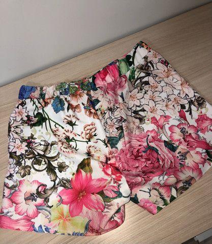 Conjunto short e saia floral tam G - Foto 5