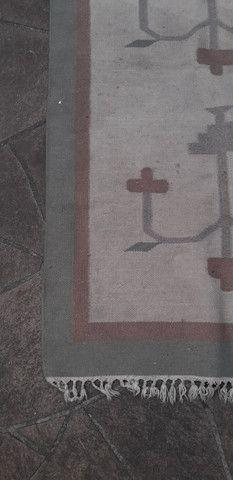 Tapete em lã natural Kilim indiano 90 x 150 cm - Foto 5