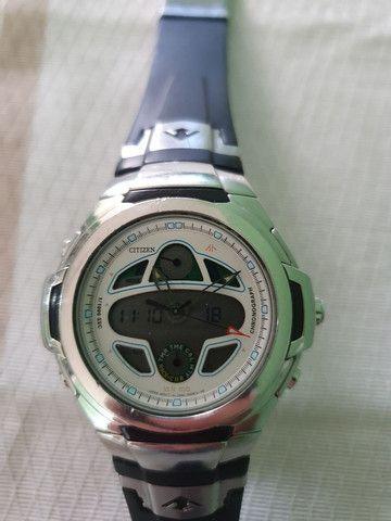 Relógio Citizen Navihawk E6758 Usado mais Relógio Aviador  - Foto 3