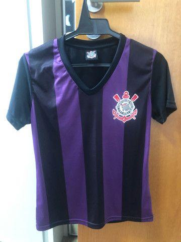 Camiseta dry fit feminina original do Corinthians